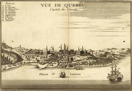 Vue Ge Ne Rale De Que Bec En 1755 Sur Le Saint Laurent Web